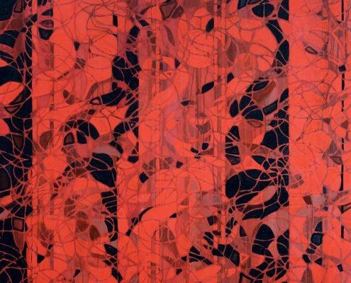 Gypsy fractal geometric wall art on canvas